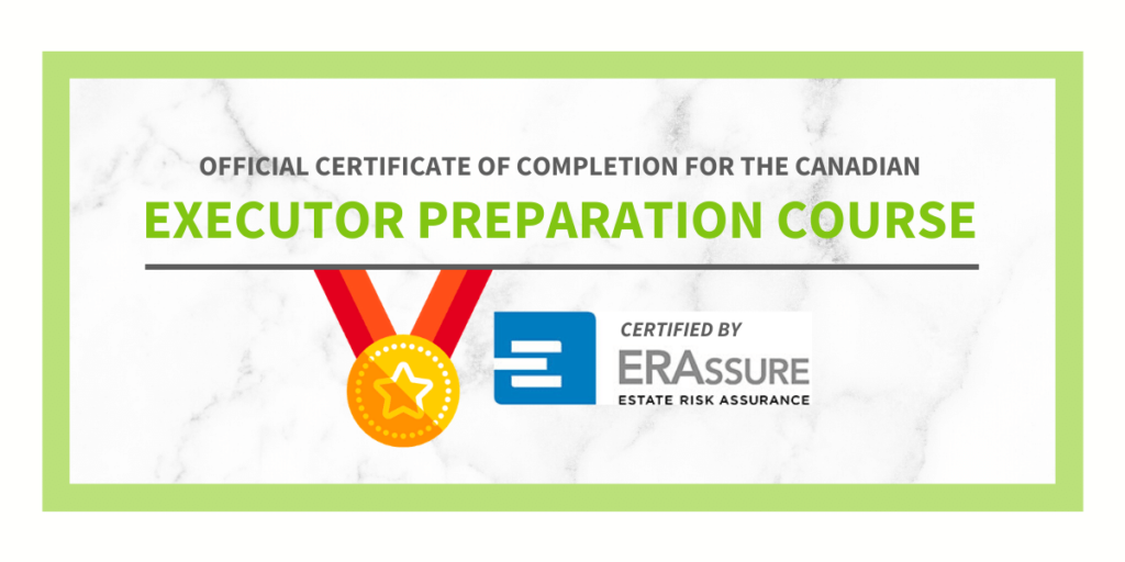 Official certificate of completion for the canadian executor preparation course